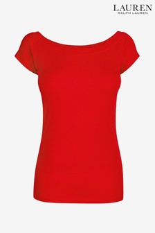 Lauren Ralph Lauren Red Judy Top