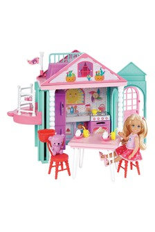 Barbie Chelsea Doll With Two Story Playhouse And Teddy Bear