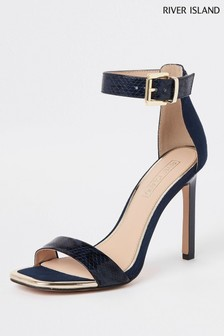 River Island Navy Barely There Sandal