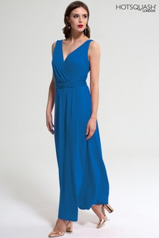 HotSquash Cobalt V Cross Over Maxi Dress