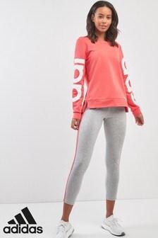 adidas Grey/Pink 3 Stripe Tight