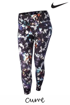 Nike Curve Black Floral Print One Leggings