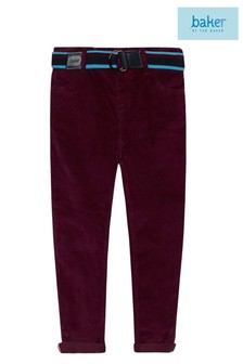 Baker by Ted Baker Cord Chino Trouser In Colour Plum