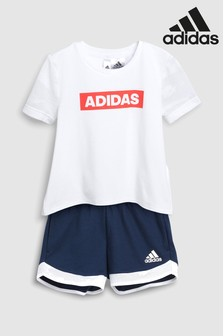 adidas Little Kids Logo Short Set