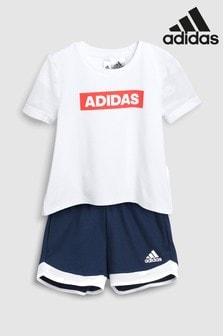 طقم شورت بشعار Little Kids من adidas