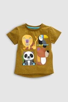 Kurzarm-T-Shirt mit Tiermotiven (3Monate bis 7Jahre)