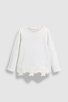 Lace Hem Long Sleeve T-Shirt (3-16yrs)