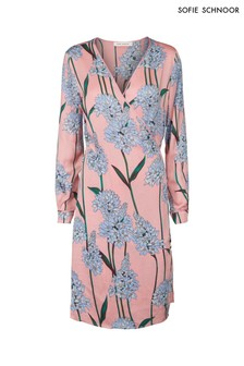 Sofie Schnoor Pink Floral Wrap Dress