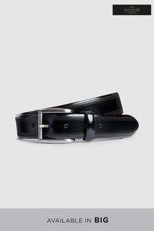Signature Italian Leather Brogue Detail Belt