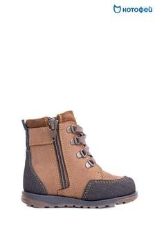 Светло-коричневые кожаные ботинки Kotofey
