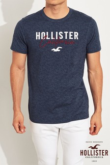 Hollister Navy Core Logo T-Shirt
