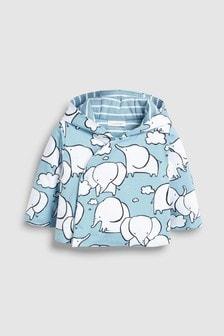 Jersey-Jacke mit Elefanten-Print (0Monate bis 2Jahre)