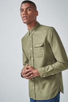 Textured Long Sleeve Shirt