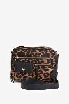 Zip Detail Across-Body Bag