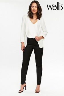Wallis Black Zip Front Trouser