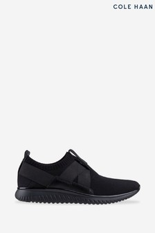 Cole Haan Black Grand Motion Stitch Slip-On Trainers