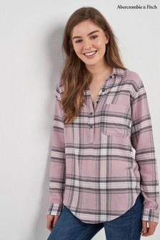 Abercrombie & Fitch Pink Plaid Shirt