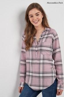 Camisa rosa con cuadros escoceses de Abercrombie & Fitch