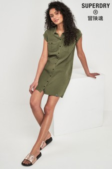 Superdry Khaki Shirt Dress