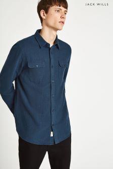 Jack Wills Navy Dundry Twill Nep Shirt