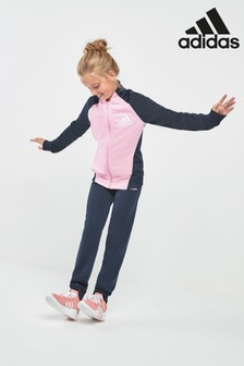 adidas Navy/Pink Poly Tracksuit