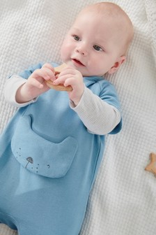 Bear Character Sweat Sleepsuit (0mths-2yrs)