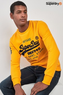 Superdry Yellow Logo Crew Sweatshirt