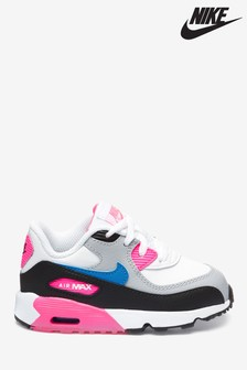 Nike White/Pink Air Max 90 Infant Trainers