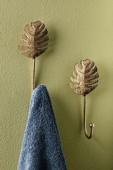 Set of 2 Palm Leaf Hooks
