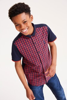 Short Sleeve Check Shirt (3-16yrs)