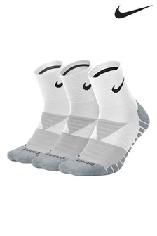 Nike Adult White Cushioned Crew Socks Three Pack