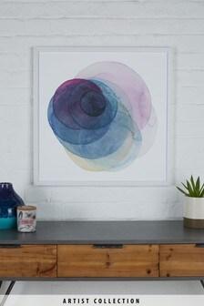 "Artist Collection Gerahmtes Bild ""Evolving Planets III"" von Grace Popp"