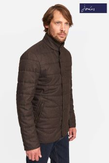 Joules Brown Lightweight Barrel Quilted Jacket