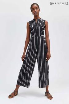 Warehouse Stripe Cutabout Jumpsuit