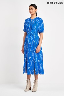Whistles Blue Twig Monika Dress