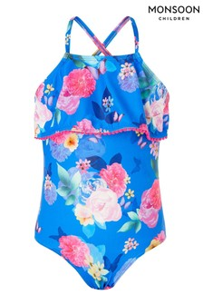 Monsoon Floral Print Frill Swimsuit