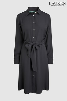 Lauren Ralph Lauren Black Belted Karalynn Dress