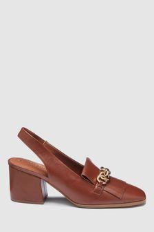 Forever Comfort Chain Loafer Slingbacks