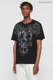AllSaints Vintage Black Skull Fieri T-Shirt