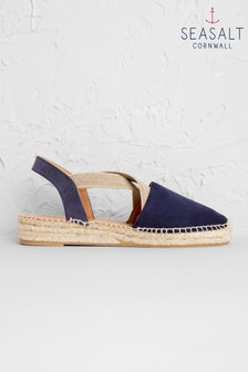 Seasalt Blue Sunset Stroll Espadrille Wide Fit
