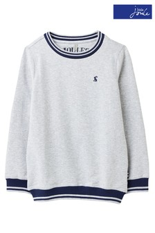 Joules Grey Penworth Lightweight Crew Neck Sweater