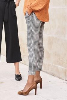 Geo Print Skinny Trousers