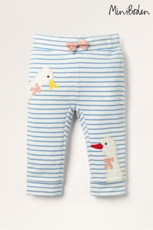 Mini Boden Blue Appliqué Jersey Trousers