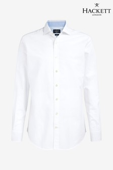 Hackett White Washed Oxford Shirt