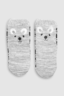 Bear Slipper Socks (Younger)