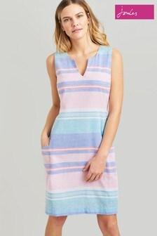 שמלה בגזרה ישרה בצבע כחול של Joules דגם Elayna