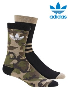 adidas Originals Adults Camo Crew Socks 2 Pack