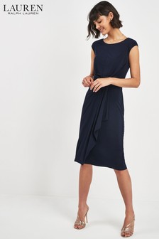 Lauren Ralph Lauren® Navy Wrap Waist Dress