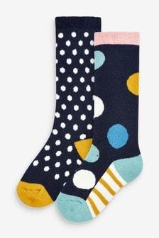 2 Pack Spot Welly Socks