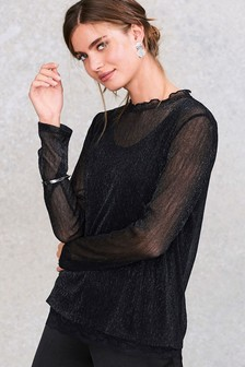 Sparkle Lace Layer Top